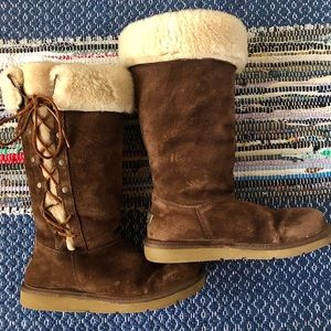 Uggs Brown Tall Furry Boots
